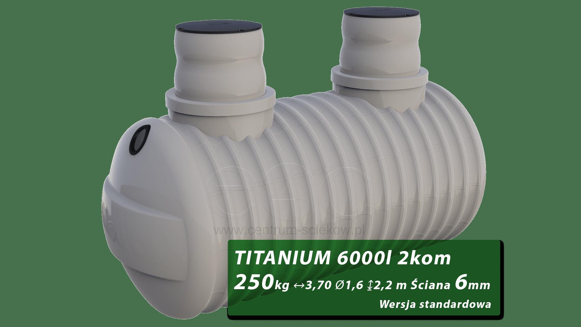 Plastikowy Zbiornik Na Szambo Titanium Dwukomorowy 6 M3 Centrum Sciekow Pl